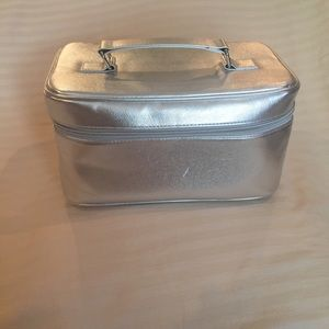 Clinique Silver makeup case w/ travel containers